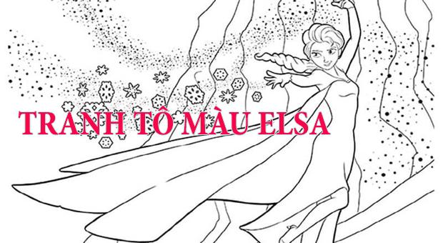 Tranh Tô Màu Elsa Cẩm Nang Cho Mẹ Và Bé